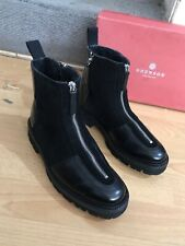 Grenson Zadie Black Leather And Suede Womens Ankle Boot Uk 5, RRP£285