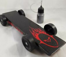Fast Fully Built Pinewood Derby Car Ready to Race--BAT-OUT-OF-HELL-Tungsten!