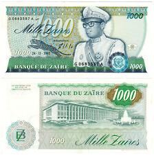 Zaire 1000 Zaïres P#31a (1985) Banque du Zaïre AUNC