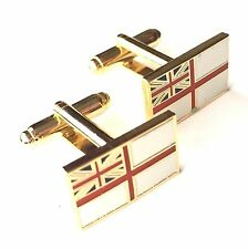 Royal Navy White Ensign Military Enamel Crested Cufflinks (N54) Gift Boxed