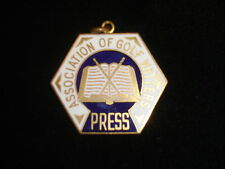 Circa 1960's Association of Golf Writers Press Pin / Credential