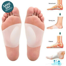 Foot Plantar Fasciitis Relief Orthotic Insoles Arch Support Flat Correcting Pads