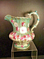 Antique Victorian Pitcher Hand Painted Very Ornate Gold Moriage Pre Nippon 8""