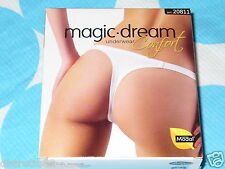 3 perizoma MAGIC DREAM Tg 4 art.20811 cotone modal nero modello aderente