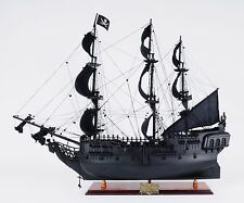 Old Modern Handicrafts Black Pearl Pirate Model Ship Medium L60