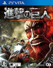 USED PS VITA Attack on Titan Shingeki no Kyojin Koei Tecmo Games Japan Import