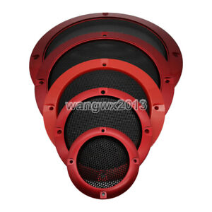 """1pcs 2""""-6.5"""" Speaker Grill Cover Audio Decorative Ring Metal Mesh Protection #1"""