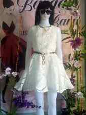Fit and Flare elegant white dress ( pre-loved)