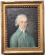 TO RESTORE 18th Century Antique Oil painting Portrait Aristocrat with a Wig