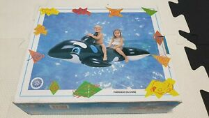 Inflatable MGM Supertoy 2-People Large Whale Ride on Pool Toy New In Box