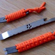 Portable Hot EDC Gear Crank Crowba Pry Bar Keychain Survival Scraper Multi Tool