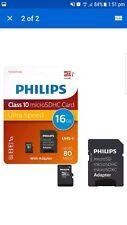 PHILIPS 16 GB micro sd Scheda di memoria SDHC classe 10 con adattatore per schede SD full size