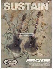 2002 FERNANDES Raven Elite Montgomery Elite Electric Guitar  Vtg Print Ad