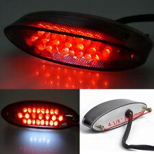 Motorcycle ATV Cruiser Bike 28 LED Tail Brake Stop License Plate Light Smoke Red