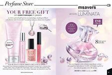 Avon Luminata Perfume Gift Set- Purse edp Lip Gloss Nail Enamel Necklace Lotion