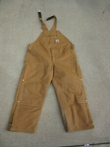 CARHARTT  WORK COVERALLS R41 BROWN 48 X 30 SLIGHTLY USED