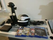 Sony Playstation PS4 VR Bundle with Four Games including Skyrim & Gran Turismo