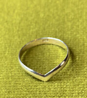 sterling silver 925 ring Size O Wishbone Ring