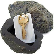 Imitación falsa jardín de plástico Roca Piedra Para Ocultar Repuesto Casa O Llave de automóvil ry147