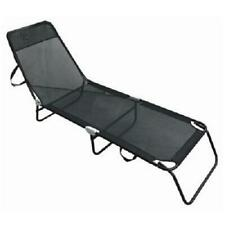 Black Textoline Garden Outdoor Adjustable Folding Chair Reclining Sun loungers