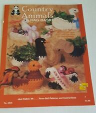 Ragpoint Country Animals Rag Baskets Simple Coil Method Pattern Booklet