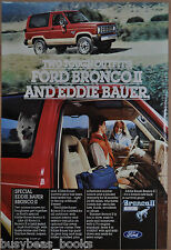 1984 FORD BRONCO II advertisement, Ford, Eddie Bauer Bronco II