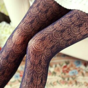 Women Sexy Stockings Lace Silk Tights Hollow Out Mesh Nylon Pantyhose Accessory