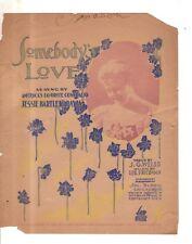 1900 Somebody's Love Newspaper Insert - J G Weiss and Leo Friedman