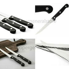 Steak Knives Knife Set Black Stainless Steel Kitchen cutlery Cookware Sheats