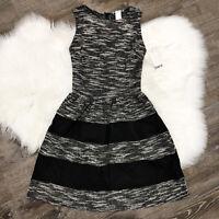 NWT BAR lll Womens Dress Size XS Sleeveless Black White Stripe Knit Structured