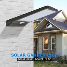 48LED Solarleuchte Solarlampe mit Bewegungsmelder Außen Fluter Sensor Strahler