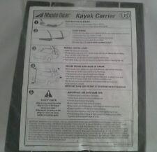 Rhode Gear by Yakima Kayak Carrier Car Top Kit Canoe & Kayak Car & Truck Rack