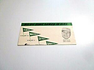 1959 Tulane Football Ticket Application & Schedule John Chase Artwork LSU Option