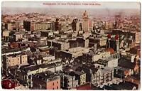 091420 VINTAGE SAN FRANCISCO CA POSTCARD PANORAMA FROM NOB HILL 1908