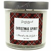 Scentsational Natural Soy 5oz Single Wick Candle Silver Lid - Christmas Spirit