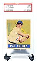 Vintage 1948 Leaf Chicago White Sox PAT SEEREY Baseball Card PSA 3 Very Good