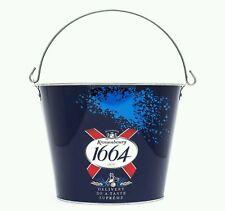 2 x Kronenbourg 1664 Metal Ice Bucket for Beer, Ale, Lager, Bottle Cooler New
