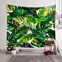 Tapestry Tropical leaves Green Wall Hanging Decoration 95x73cm HI