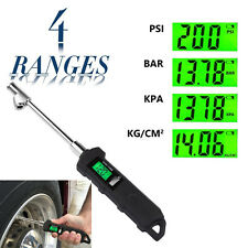 150PSI Digital Tire Pressure Gauge and Air-Releaser w/ 2 Nozzle PSI/BAR/KPA Unit
