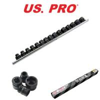 """US PRO Tools 15 Piece 1/2"""" Drive Impact 6 Point Stubby Sockets 10 - 24mm 1436"""