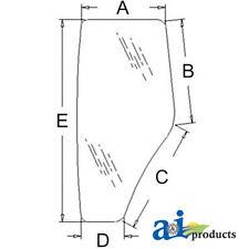 John Deere Parts CAB DOOR GLASS LH  R198624 6603,6403, 6140D, 6130D, 6125D, 6115