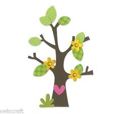 Sizzix Bigz Die TREE w/ FLOWERS HEARTS & LEAVES 660404  Big Shot/Cut n Boss