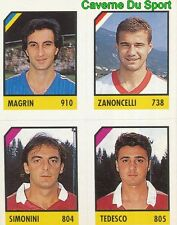 085 MAGRIN ZANONCELLI SIMONINI TEDESCO CARD CARTA CALCIO QUIZ VALLARDI 1991