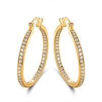 Sevil 18K Gold Plated Hoop Earrings Made With Swarovski Elements