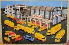 Öl-Bild Leinwand Coca-Cola Werk Fuhrpark Illustration von WIKING-Modellen 79x118