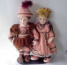 Awsome Show Stoppers Little Boy & Girl Prince & Princess Renaissance Dolls.