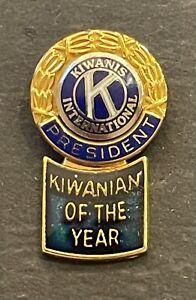Kiwanis International President Kiwanian of the Year Lapel Pin Back Tie Tack