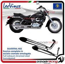 Leovince Silvertail Echappement complet chromée Honda VT 125 C SHADOW 1999>2003