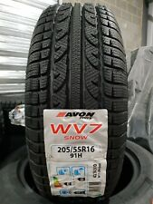 £67 fitted 205 55 16 91H Avon WV7 SNOW new winter tyre 2055516 205/55/16