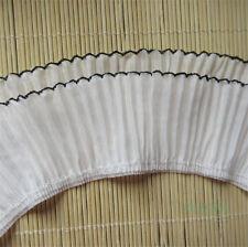 5 yd Vintage White Stretch Pleated Lace Trim Gathered Elastic Wedding Ribbon DIY